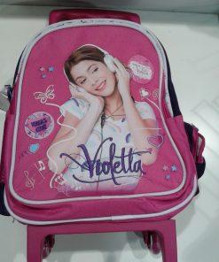 Mochila Violetta com Trolley Pré-Escolar
