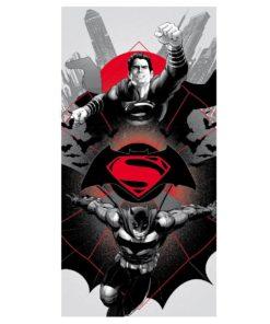 Toalha de Praia Batman VS Super Homem