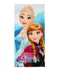 Toalha de Praia Frozen Anna e Elsa Floresta
