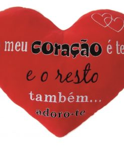"""Almofada Coração """"O Meu Coração é Teu"""""""
