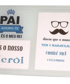 """Moldura de Vidro """"És o meu Herói"""""""