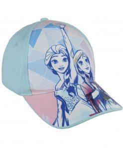 Boné Frozen Azul Elsa e Anna Geométrico