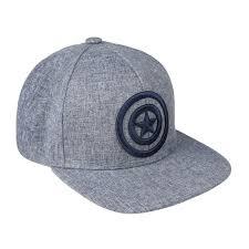 Boné CAP Avengers Cinzento Estrela Azul