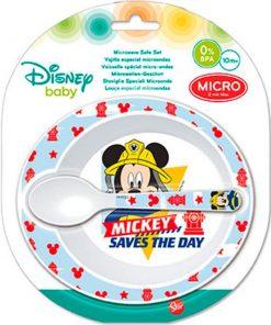 Prato e Colher Mickey para Bebé