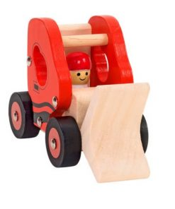Escavadora em Madeira de Brinquedo