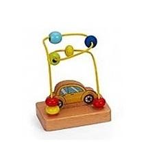 Jogo Labirinto com Carro em Madeira de brinquedo