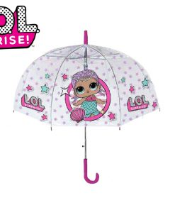 "Guarda-Chuva LOL Transparente ""It's Raining Kids"""