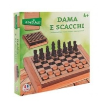 Jogo de Xadrez e Damas de Madeira