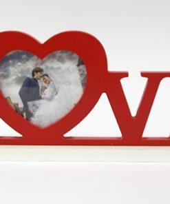 """Moldura em Madeira """"Love"""""""