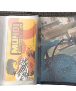 """Porta Cartões Mundi """"Vintage"""" Preto"""