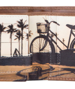 """Carteira Mundi """"Bicicleta"""" Castanha"""