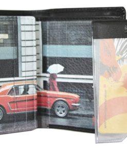 "Porta Cartões Mundi Pequeno ""Mustang"" Preto"
