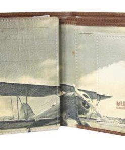 """Carteira Vertical Mundi """"Avião"""" Camel"""