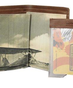 """Porta Cartões Mundi Pequeno""""Avião"""" Camel"""