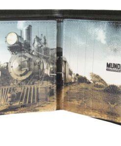 """Porta Cartões Mundi Pequeno """"Comboio"""" Preto"""