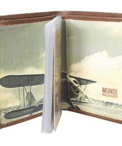 """Porta Cartões Mundi """"Avião""""Camel"""