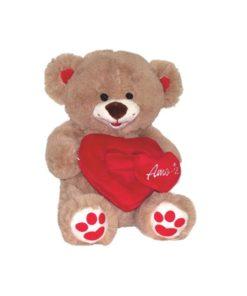 """Peluche Urso """"Amo-te"""" c/ Moldura 30cm"""