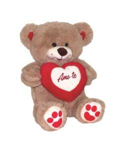 """Peluche Urso """"Amo-te"""" c/ Coração 2 Cores"""