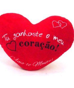 """Almofada """"Tu Ganhaste o Meu Coração"""" 40cm"""
