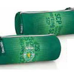 Estojo Sporting Redondo Verde c/ Logos