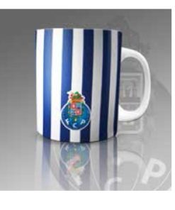 Caneca do Futebol Clube do Porto às Riscas