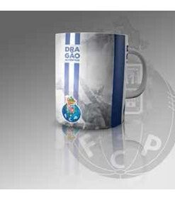 Caneca do Futebol Clube do Porto fundo Cinza