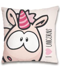 "Almofada Unicórnio Nici ""I Love Unicorns"""