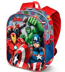 Mochila 3D Avengers Infantil 4 Personagens