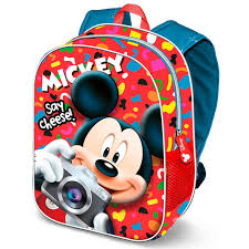 "Mochila 3D Mickey Infantil ""Say Cheese"""