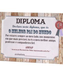 """Moldura Diploma """"O Melhor Pai do Mundo"""""""