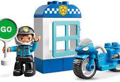 Mota da Polícia Lego Duplo