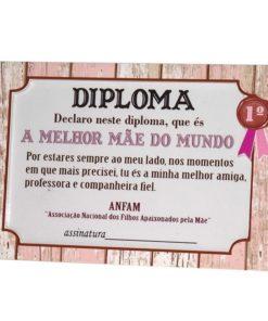 """Diploma e Moldura """"A Melhor Mãe do Mundo"""""""