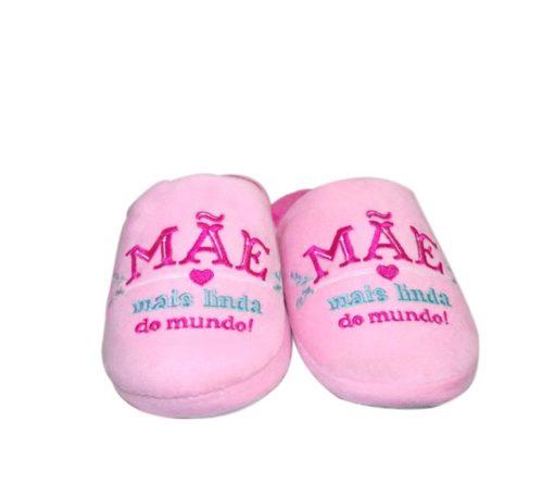 """Chinelos """"Mãe Mais Linda do Mundo"""" 39/40"""