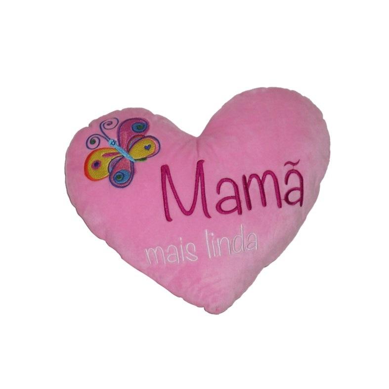 66d6e0e21a1eef Almofada Coração Rosa 25cm