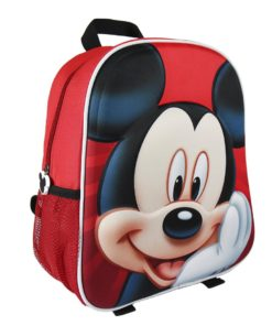 Mochila 3D Mickey Infantil Vermelha