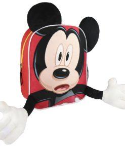Mochila Mickey Infantil em Peluche c/ Mãos