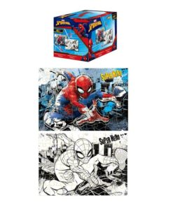 "Puzzle Spiderman para Colorir ""Cubo"""