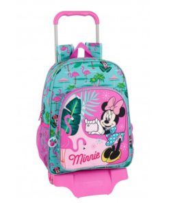 "Mochila Trolley Escolar Minnie ""Spring Palms"""