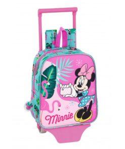 "Mochila Trolley Pequena Minnie ""Spring Palms"""