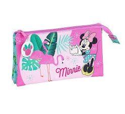"""Estojo Triplo Minnie """"Spring Palms"""""""