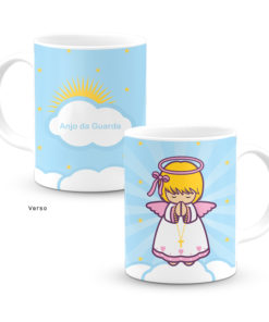 Caneca Anjo da Guarda Rosa Little Drops of Water