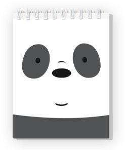 Bloco de Notas Nós os Ursos Urso Panda