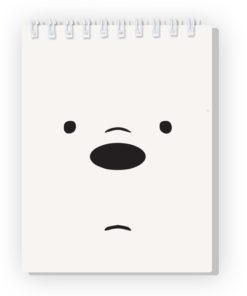 Bloco de Notas Nós os Ursos Urso Polar