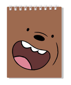 Bloco de Notas Nós os Ursos Urso Pardo