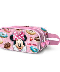 """Estojo Minnie """"Yummy"""" Oval Duplo"""