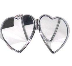 Porta Chaves Coração Namorados c/ Espelho Preto