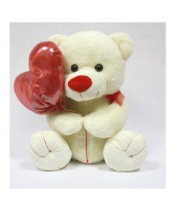 Peluche Urso c/ Balão de Coração 25cm