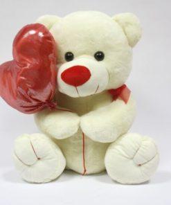 Peluche Urso c/ Balão de Coração 48cm