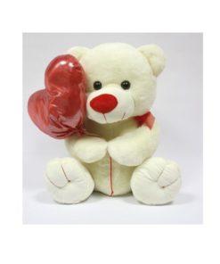 Peluche Urso c/ Balão de Coração 17cm