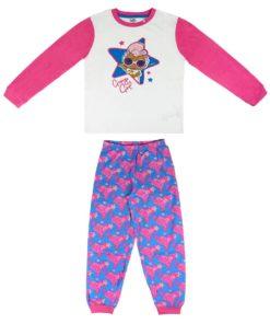 Pijama LOL de Algodão Branco e Rosa (8-14)
